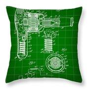 Hair Dryer Patent 1929 - Green Throw Pillow