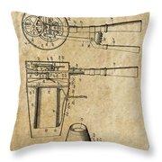 Hair Dryer Patent Art 1911 Throw Pillow