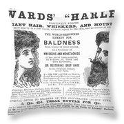 Hair Restorative, 1891 Throw Pillow