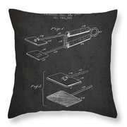 Hair Straightener Patent From 1909 - Charcoal Throw Pillow