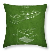 Hair Straightener Patent From 1909 - Green Throw Pillow