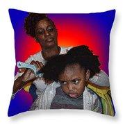 Hair Time Throw Pillow