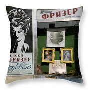 Hairdresser. Belgrade. Serbia Throw Pillow