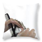 Hairdresser Throw Pillow