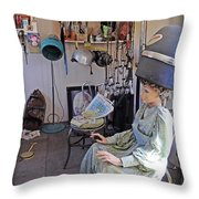 Hairdresser Work Throw Pillow