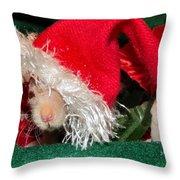 Hairless Christmas Throw Pillow