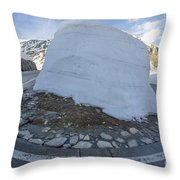 Hairpin Bend With Snow Throw Pillow