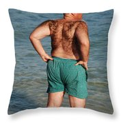 Hairy Ocean Throw Pillow