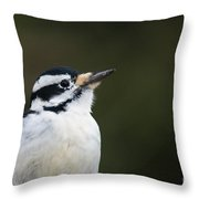 Hairy Profile Throw Pillow