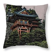 Hakoni Tea House Throw Pillow