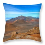 Haleakala Lava Cones Throw Pillow