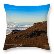 Haleakala Observatory In Maui. Throw Pillow