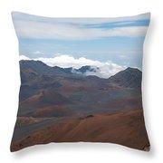 Haleakala On Maui Throw Pillow