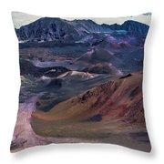 Haleakala Summit Crater Throw Pillow