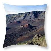 Haleakala Sunrise On The Summit Maui Hawaii - Kalahaku Overlook Throw Pillow by Sharon Mau