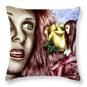Haleys Apparition Colored Throw Pillow