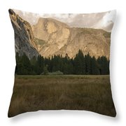 Half Dome And The Yosemite Valley Throw Pillow