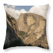 Half Dome As The Sun Drops In The Sky Throw Pillow