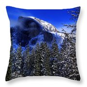 Half Dome Clearing Throw Pillow