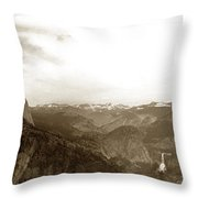 Half Dome From Glacier Point Yosemite Valley  California Circa 1910 Throw Pillow