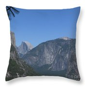 Half Dome In Distance Throw Pillow