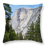 Half Dome In Spring In Yosemite Np-2013 Throw Pillow