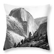 Half Dome North Side Throw Pillow