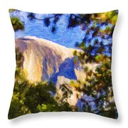Half Dome Opus I Throw Pillow