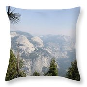 Half Dome Panorama View Throw Pillow