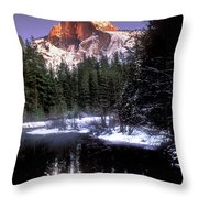 Half Dome Reflection Yosemite National Park California Throw Pillow