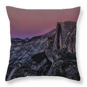 Half Dome Twilight Throw Pillow