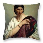 Half-length Portrait Of A Roman Woman Throw Pillow