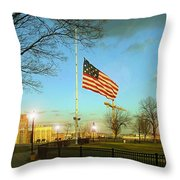 Half Mast Throw Pillow