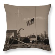 Half Mast D Throw Pillow