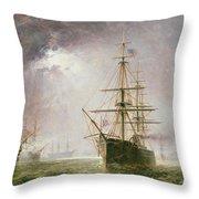 Half Mast High 19th Century Throw Pillow