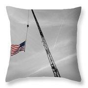 Half-mast Throw Pillow by Luke Moore