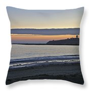 Half Moon Bay Sunset Throw Pillow