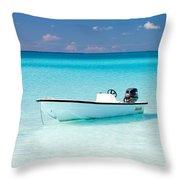 Half Moon Cay Throw Pillow