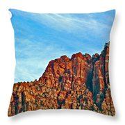 Half Moon Over Zion National Park-utah Throw Pillow