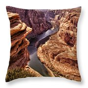 Half Of Horshoe Bend - Page Az Throw Pillow