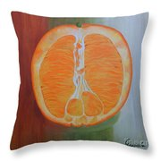 Half Orange Throw Pillow