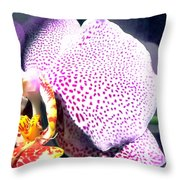 Half Orchid Throw Pillow