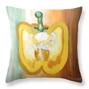 Half-pepper Throw Pillow