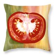 Half-tomato Throw Pillow