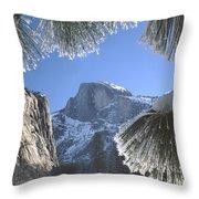 2m6757-halfdome In Winter Throw Pillow