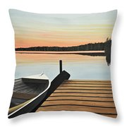 Haliburton Dock Throw Pillow