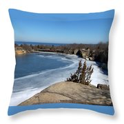 Icy Quarry Throw Pillow