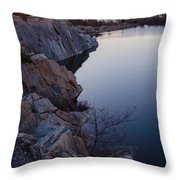 Halibut Point In Rockport Throw Pillow