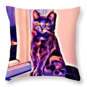 Halifax Cat Throw Pillow