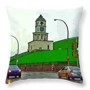 Halifax Historic Town Clock Graphic Throw Pillow